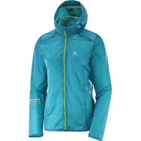 Salomon Lightning Wind Hoodie Damen enamel blue